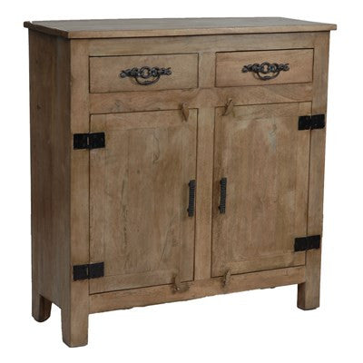 Crestview Bengal Manor Mango Wood Grey Cabinet CVFNR307