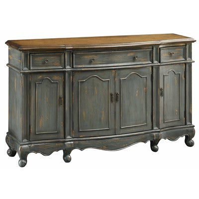 Crestview Chatsworth Grey 3 Drawer / 4 Door Credenza CVFZR1269 - Rustic Edge