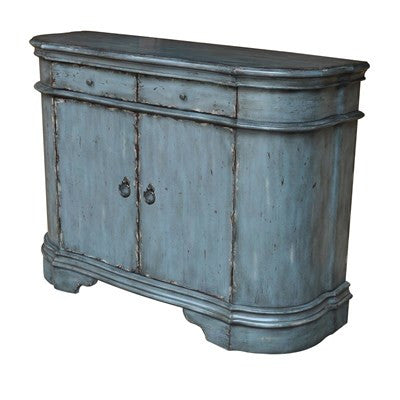 Crestview Harrison Distressed Grey 2 Door Cabinet CVFZR1453 - Rustic Edge