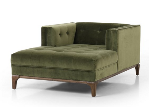 Denley Mid-Century Chaise - Sapphire Olive