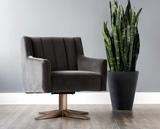 Paulina Swivel Arm Chair - Shale Grey