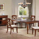 Sunset Trading Andrews Collection Dining Set Antique White/Chestnut 4276