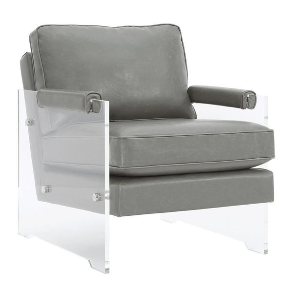 Milana Floating Chair Grey Eco Leather - Intrustic home decor