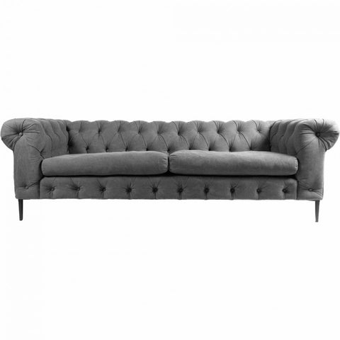 "Canterbury 94"" Sofa - Grey - Rustic Edge"