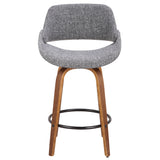 Farro Smoke Gray Upholstered Counter Stools - Set of 2