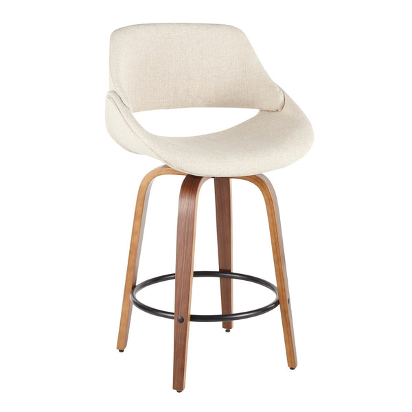 Farro Cream Upholstered Counter Stools - Set of 2