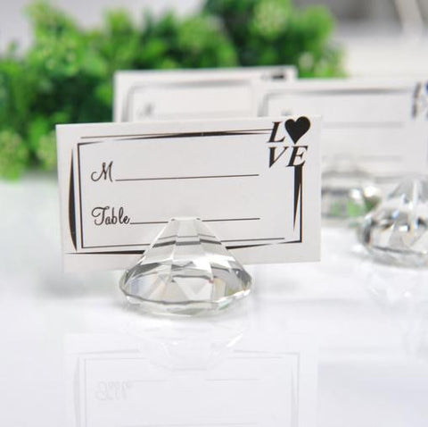 Diamond Shaped Place Card Holder Wedding (Set of 4)