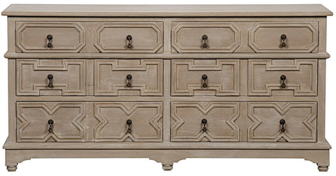 Rasmus 6 Drawer Dresser, Weathered