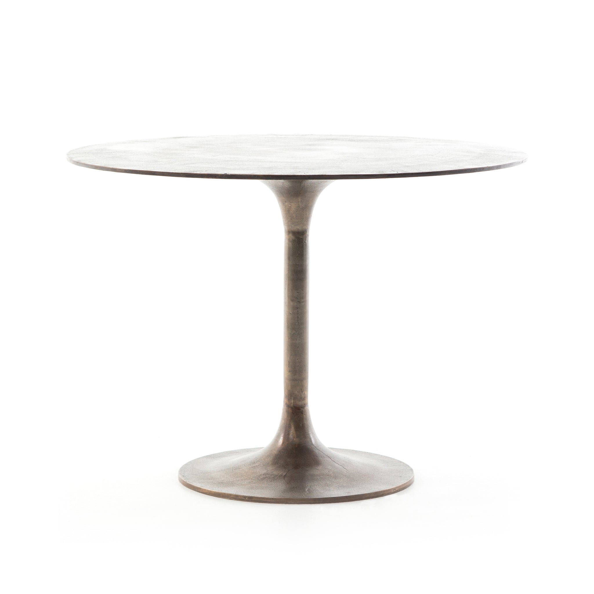 Simeno Cast Aluminum Bistro Table - Antique Rust
