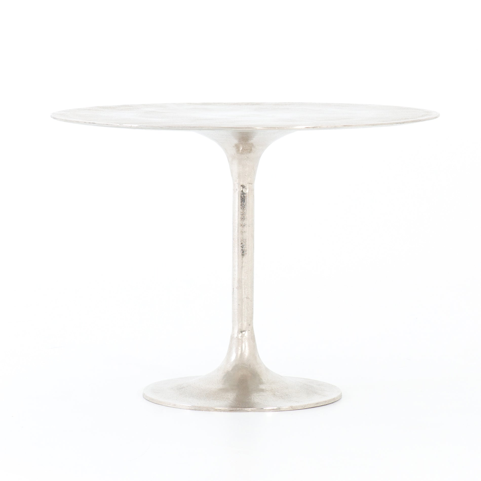 Simeno Cast Aluminum Bistro Table - Raw Nickel