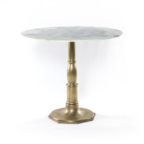 LISA BISTRO TABLE, BRIGHT BRASS