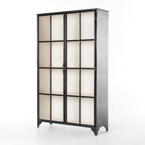 Amare Black and White Metal Cabinet - Rustic Edge