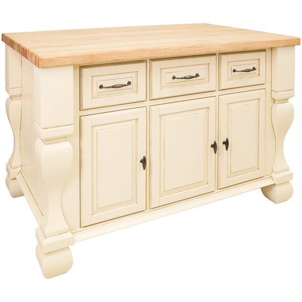 Kitchen Island Accessories: Jeffrey Alexander Tuscan Kitchen Island Antique White