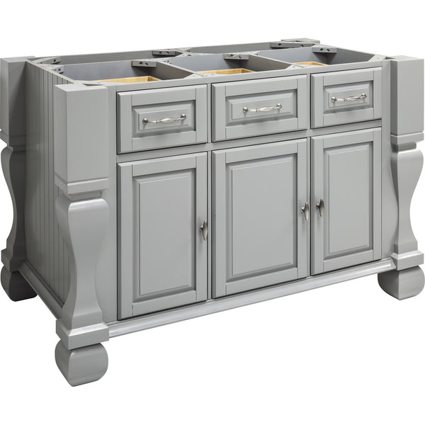 Kitchen Island - Tuscan Jeffrey Alexander Island Gray by hardware resources. - Rustic Edge - 2
