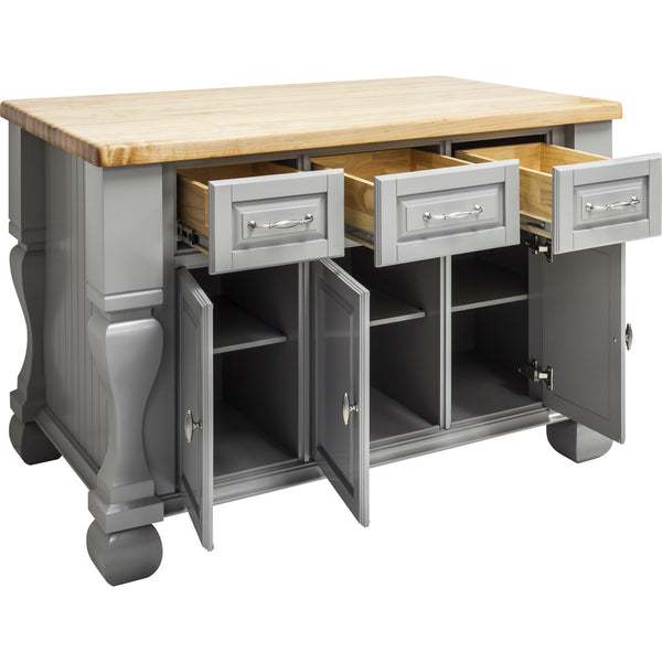 Kitchen Island - Tuscan Jeffrey Alexander Island Gray by hardware resources. - Rustic Edge - 3