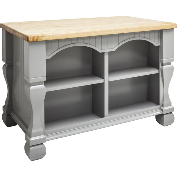 Kitchen Island - Tuscan Jeffrey Alexander Island Gray by hardware resources. - Rustic Edge - 5