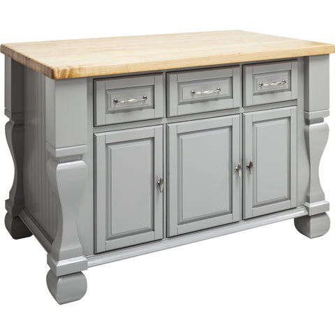 Kitchen Island - Tuscan Jeffrey Alexander Island Gray by hardware resources. - Rustic Edge - 1