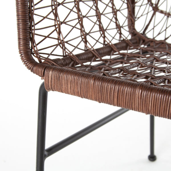 Adela Woven Dining Chair, Natural Honey - Rustic Edge