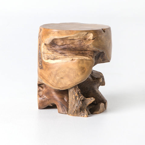 Alvaro Teak Side Table - Rustic Edge