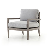 Louis Outdoor Teak Chair - Weathered Grey