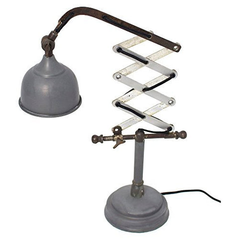 Kalalou Raw Metal Vertical Scissor Table Lamp NNL2306