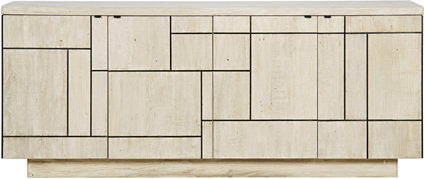 Ashton Light Wood Sideboard with Steel Inserts - Contemporary - Rustic Edge