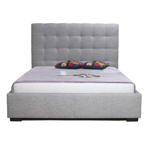 Valere Tufted Upholstered Platform Bed - Dark and Light Grey