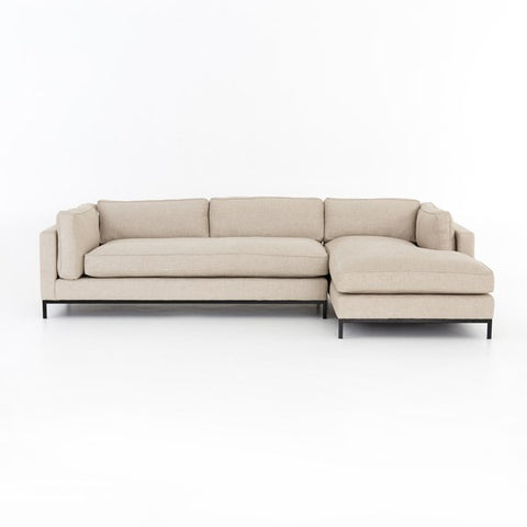 Percy Right Arm Chaise 2pc Sectional - Sand