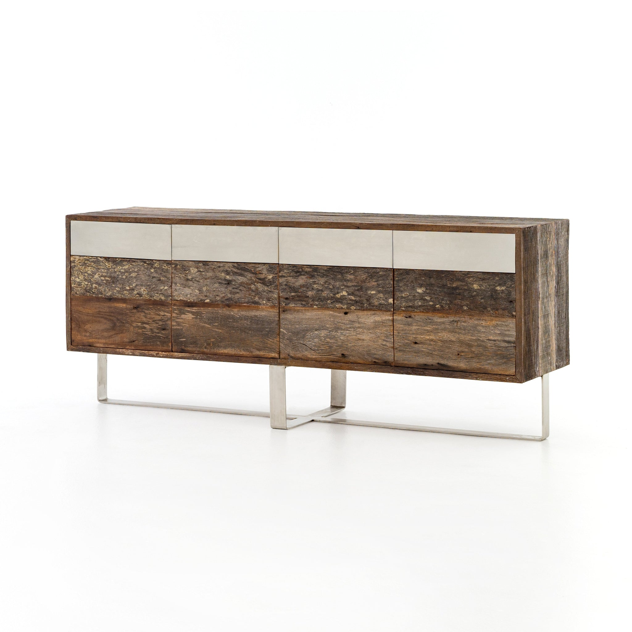 SEMMES SIDEBOARD, Stainless Steel, Beech Walnut, Peroba Natural
