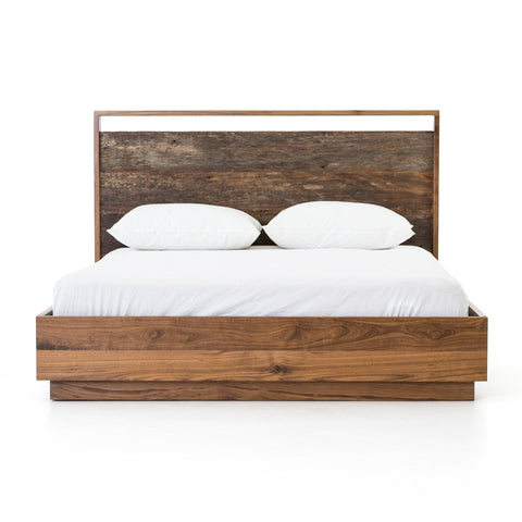 LEWIS BED, Walnut, Peroba