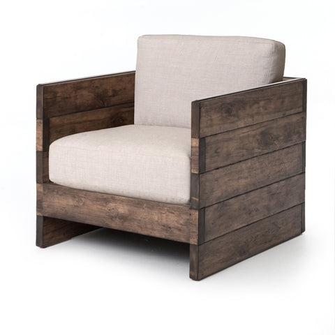 Christine Accent Arm Chair - Distressed Oak - Rustic Edge