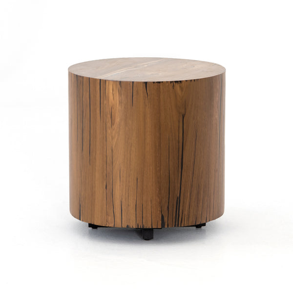 Houston Round Wood End Table - Natural Yuka