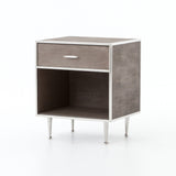 Farruco Shagreen Nightstand/End Table - Brass or Stainless