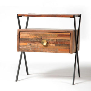 Argenta End Table/Nightstand - Rustic Edge