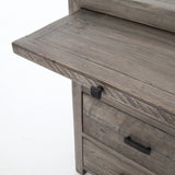 Calligenia Reclaimed Wood Nightstand w/Coffee Slide - 2 Finishes - Rustic Edge