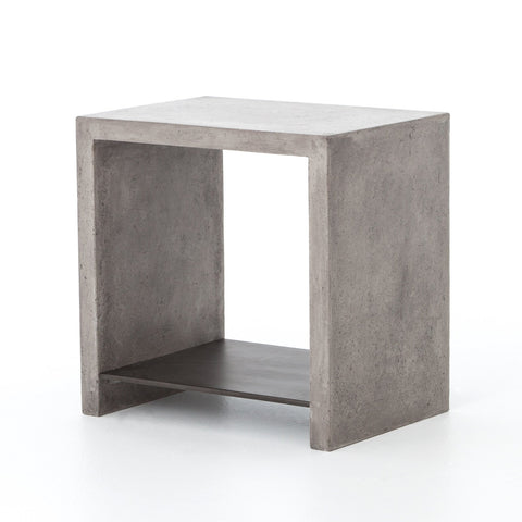 "Cartland Modern 21"" Concrete Sidetable - Rustic Edge"