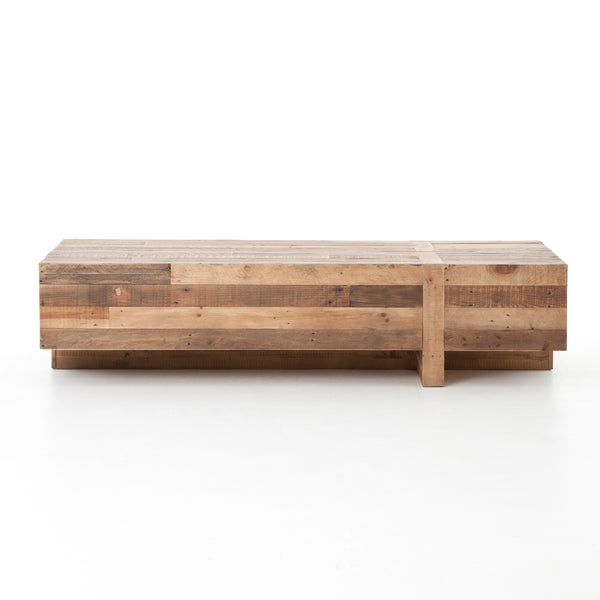Bellona Reclaimed Wood Coffee Table - Rustic Edge