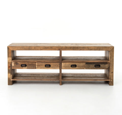 Bellona Reclaimed Wood Media Console - Rustic Edge