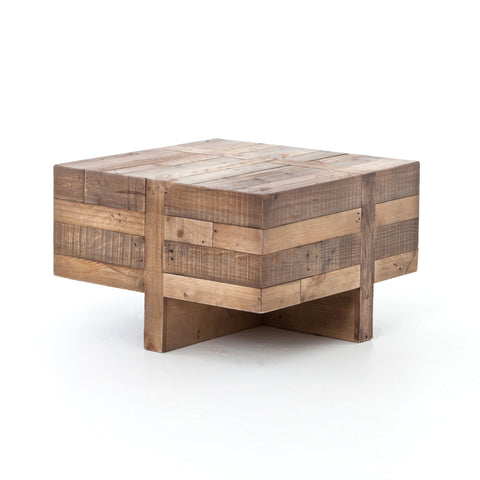 Bellona Reclaimed Wood Side Table - Rustic Edge