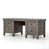 Bolade Solid Wood Office Desk - 2 Finishes - Rustic Edge