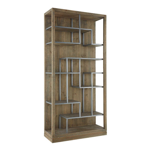 Mariano Industrial Book Shelf - Reclaimed Wood and Metal