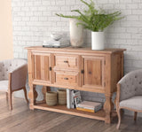 Aubrey Buffet/Island Natural Fir - Rustic Edge