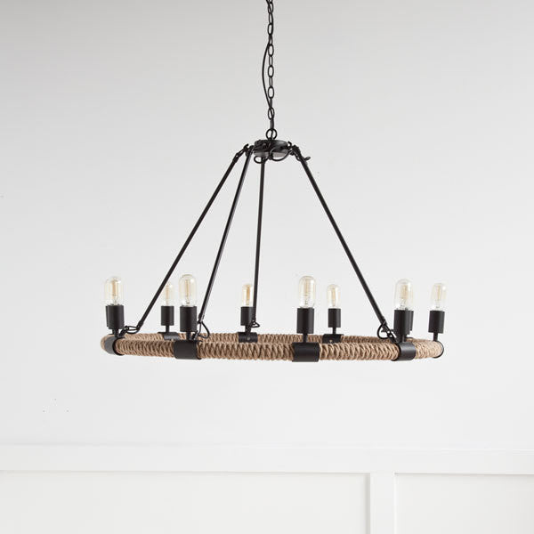lighting - Autumn Elle Designs Auden Chandelier 963014 - Rustic Edge - 1