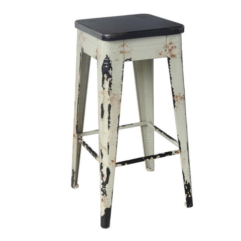 "White Metal Farmhouse 26"" counter stool- Rustic Edge"