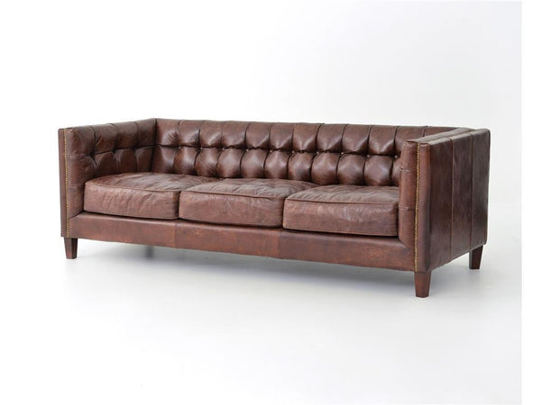 Alderidge Leather Sofa - Rustic Edge