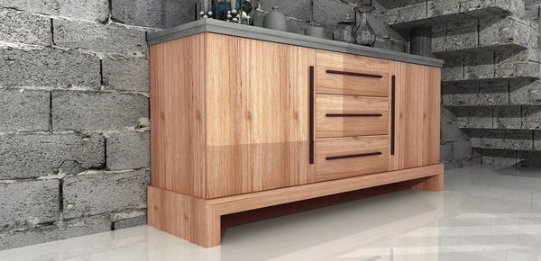 Modrest Civic Modern Concrete & Acacia Wood Buffet by VIG Furniture