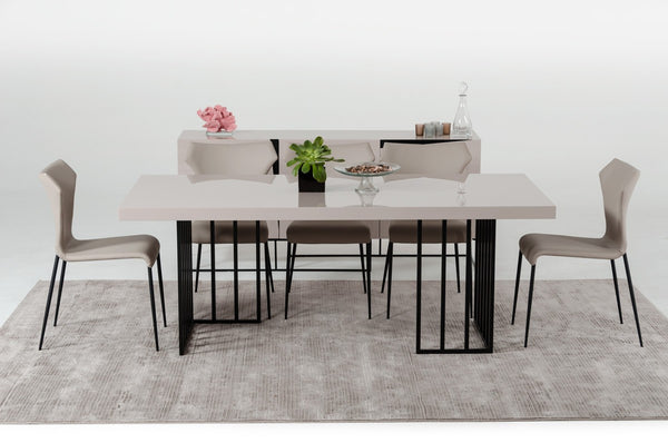 Modrest Hope Modern Grey Gloss Dining Table by VIG Furniture