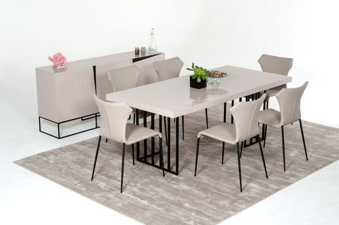 Modrest Hope Modern Grey Gloss Dining Set by VIG Furniture