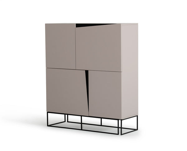 Modrest Hope Modern Grey Gloss Tall Buffet by VIG Furniture
