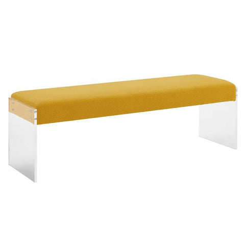 HOLLIS PEBBLED VELVET BENCH - Intrustic home decor